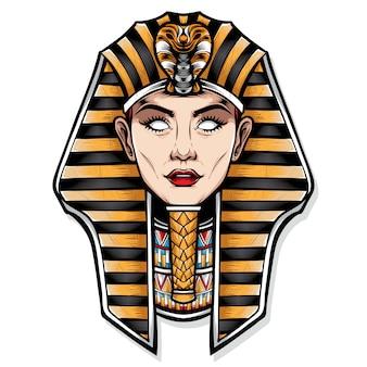 Vrouwelijke cleopatra vectorillustratie
