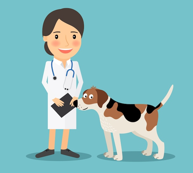 Vrouwelijke dierenarts arts