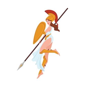 Vrouwelijke griekse krijger