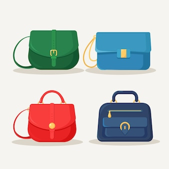 Vrouwelijke handtas voor winkelen, reizen, vakantie. leerzak met handvat op witte achtergrond. mooie casual collectie zomervrouwaccessoires.