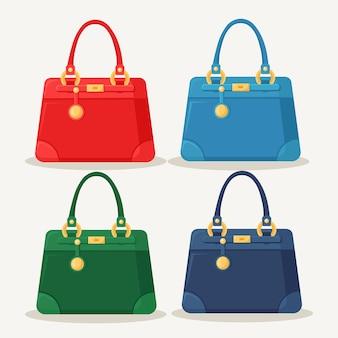 Vrouwelijke handtas voor winkelen, reizen, vakantie. leren tas met hengsel