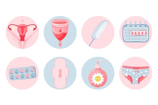 Vrouwelijke hygiëne set met menstruatiecup