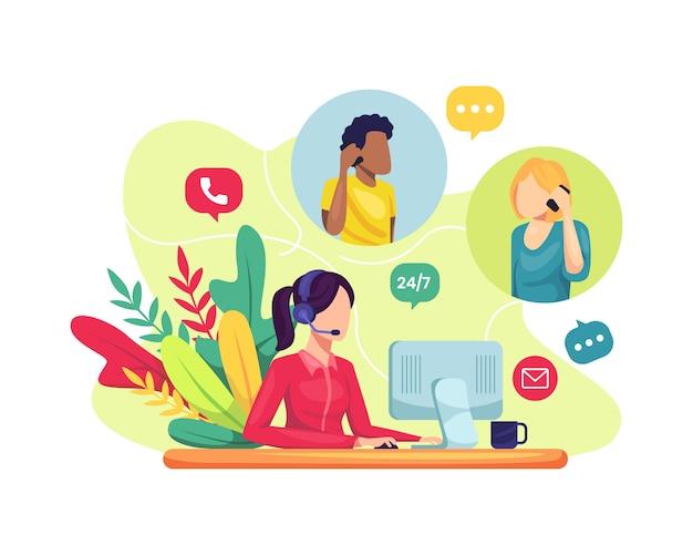 Vrouwelijke klantenservice