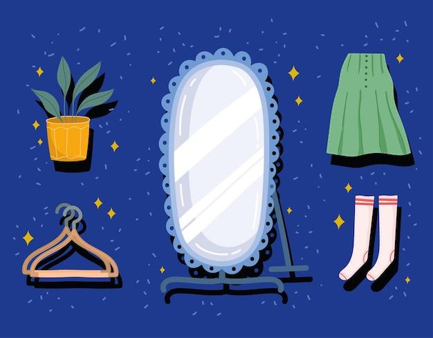 Vrouwelijke kleding set