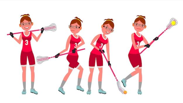 Vrouwelijke lacrosse-speler