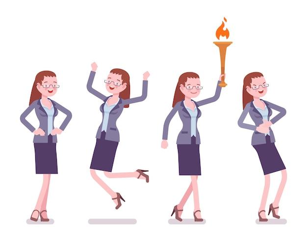 Vrouwelijke leraar positieve emoties