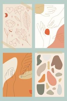 Vrouwelijke lijnkunst collectie vector