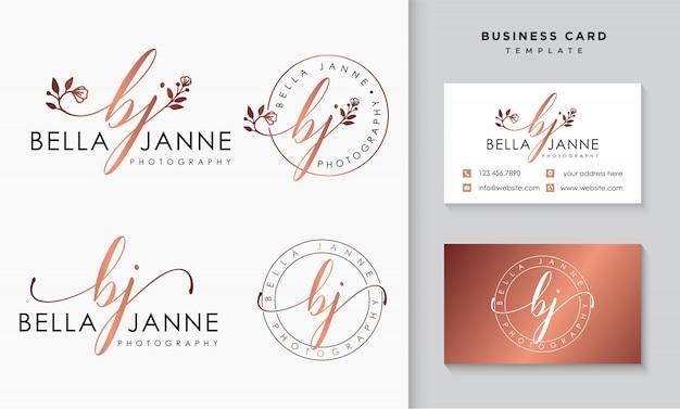 Vrouwelijke logo collecties sjabloon