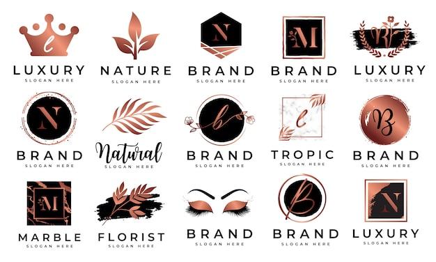 Vrouwelijke logo-collecties