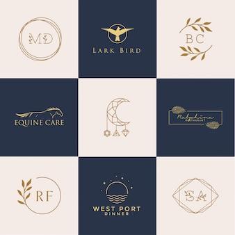 Vrouwelijke logo-set