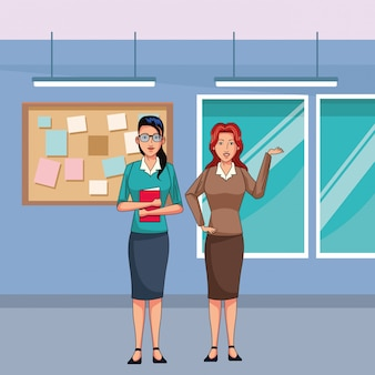 Vrouwelijke ondernemers avatar stripfiguur