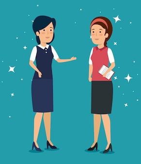 Vrouwelijke ondernemers praten