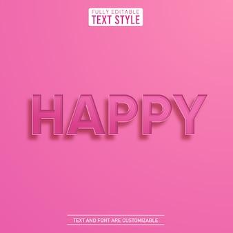 Vrouwelijke schattige 3d gelukkig liefde tekst met schaduw alfabet letter set collectie
