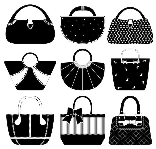 Vrouwelijke tas handtas portemonnee mode vrouw. een set handtassen en portemonnees