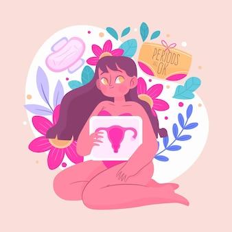 Vrouwelijke voortplantingssysteem illustratie