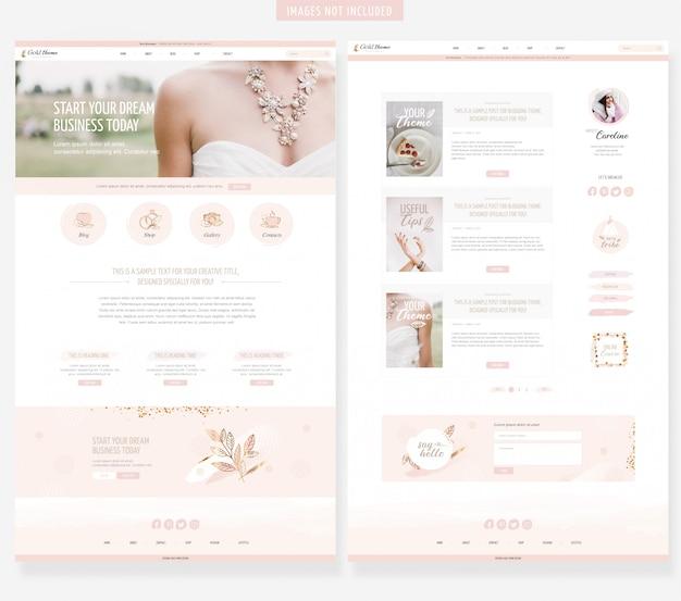 Vrouwelijke website sjabloon