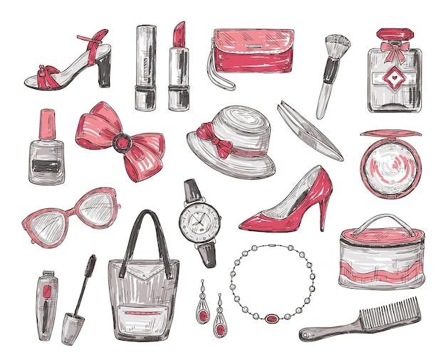 Vrouwen accessoires set
