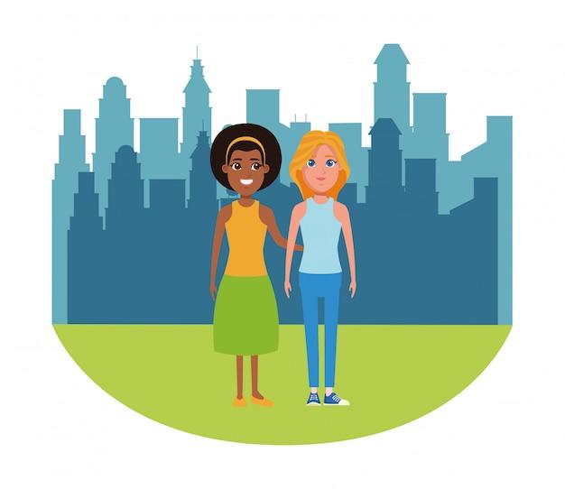 Vrouwen avatar cartoon karakter portret