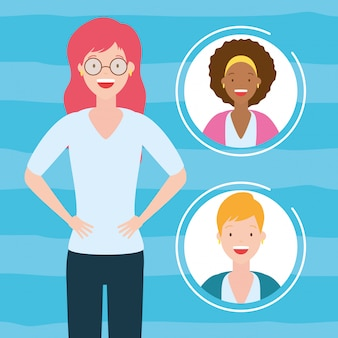 Vrouwen avatar collectie