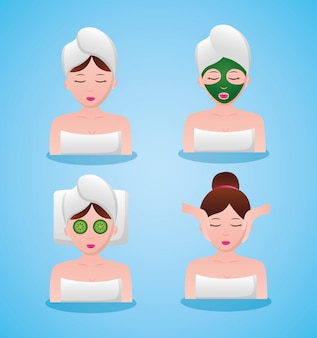 Vrouwen avatar in spa-therapie