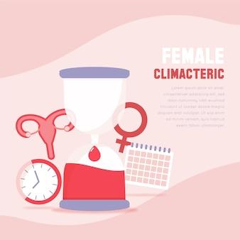 Vrouwen climacterisch concept