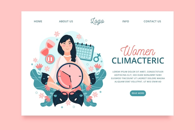 Vrouwen climacterische bestemmingspagina