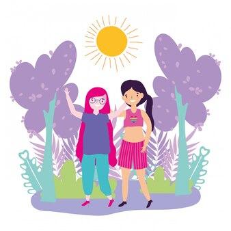 Vrouwen die lgtbi-mars steunen