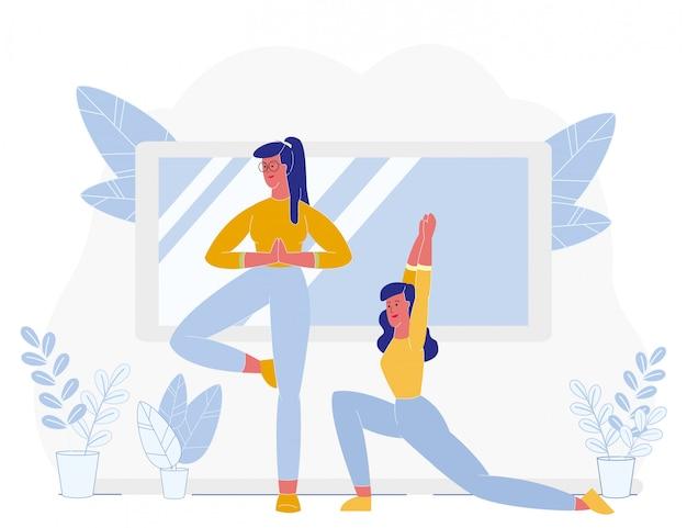 Vrouwen doen rekoefeningen fitness training