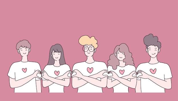 Vrouwen en mannen groep gelukkig in vergadering