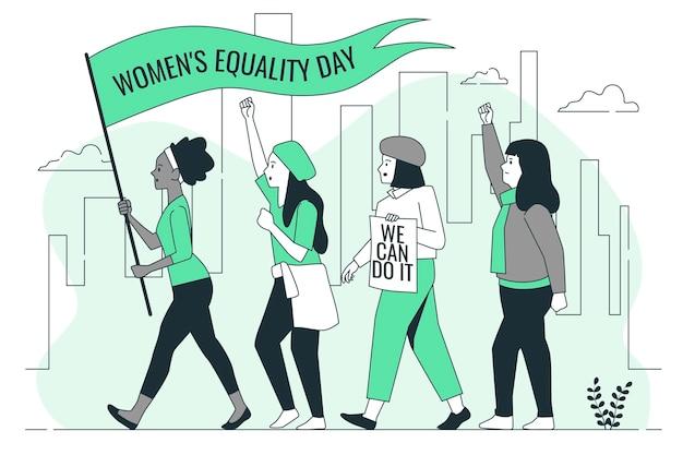 Vrouwen gelijkheid dag concept illustratie