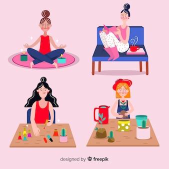 Vrouwen genieten van hun vrije tijd