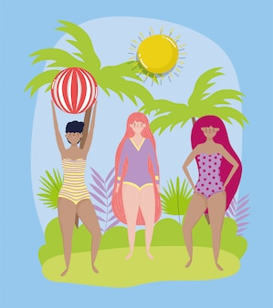 Vrouwen hallo zomervakantie