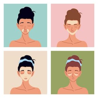 Vrouwen huidverzorging lotion crème gezicht
