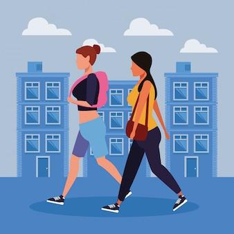 Vrouwen in de stad