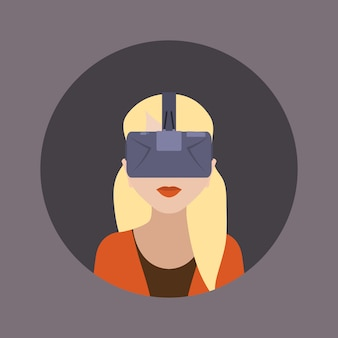 Vrouwen in de virtual reality-headset