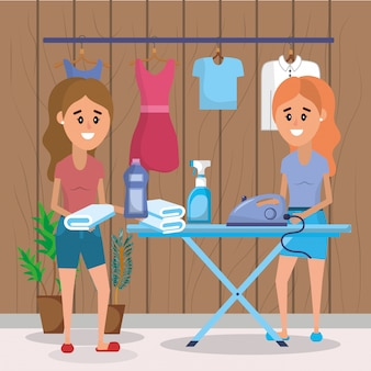 Vrouwen in de wasserij