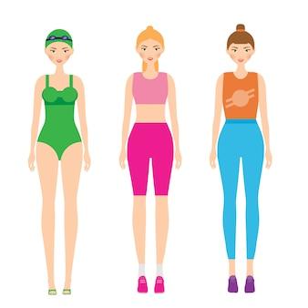 Vrouwen in sportkleding