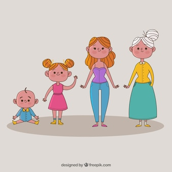 Vrouwen in verschillende leeftijden