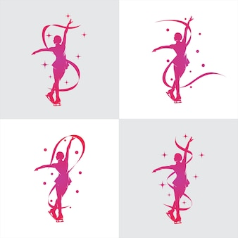 Vrouwen kunstschaatsen logo