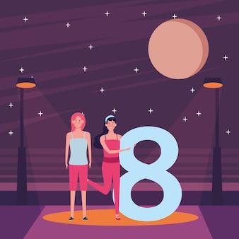 Vrouwen met acht