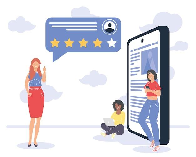 Vrouwen met met feedback