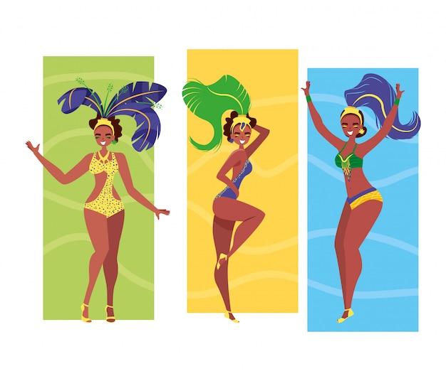 Vrouwen samba danser
