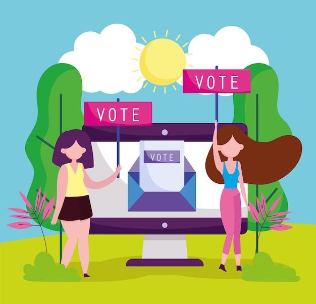 Vrouwen stemmen plakkaat