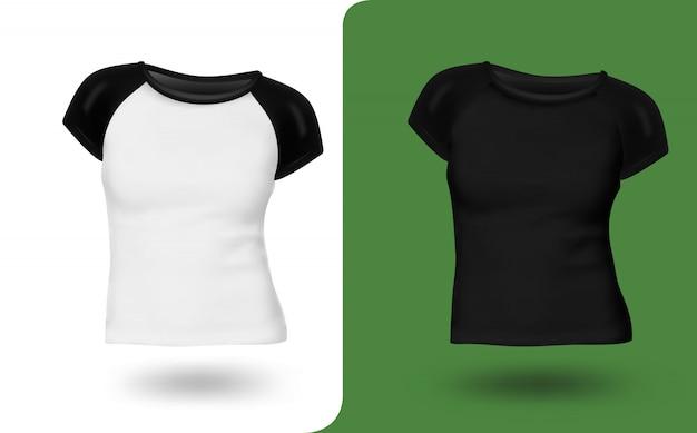 Vrouwen t-shirt ingesteld sjabloon