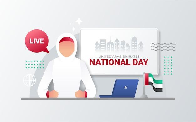 Vrouwen uit verenigde arabische emiraten op het laatste nieuws. nationale dag