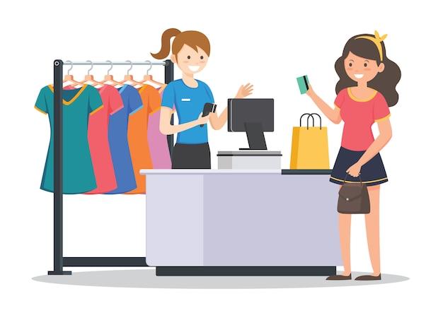 Vrouwen winkelen