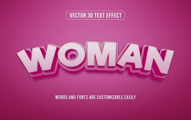 Vrouwendag 3d bewerkbare teksteffectstijl