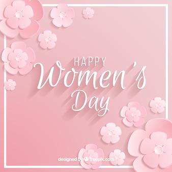 Vrouwendag achtergrond in pastel roze