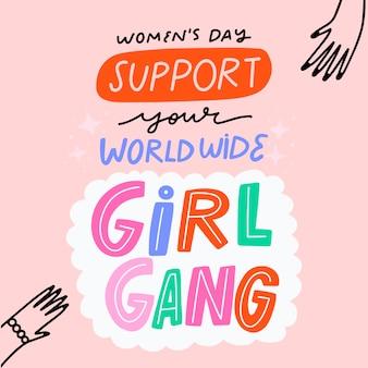 Vrouwendag empowering belettering