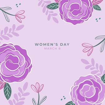 Vrouwendag evenement met bloemmotief